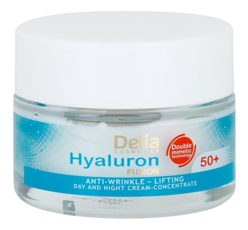 Delia Cosmetics Hyaluron Fusion 50+ crème anti-rides raffermissante