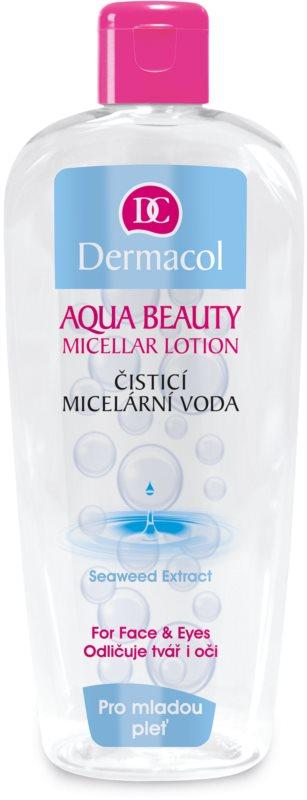 Dermacol Aqua Beauty agua micelar limpiadora para pieles jóvenes
