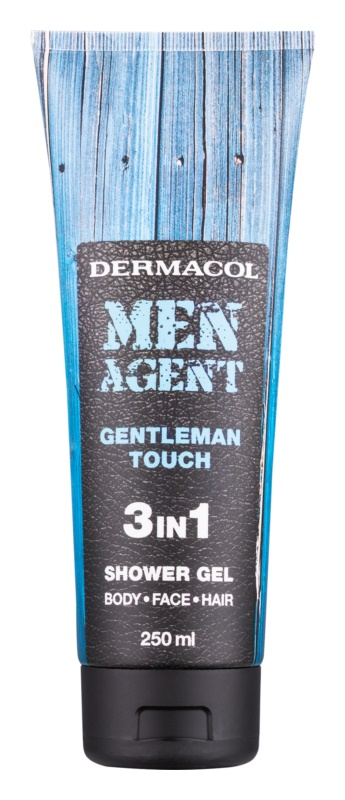 Dermacol Men Agent Gentleman Touch τζελ για ντους 3 σε 1