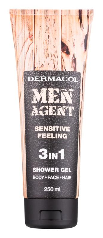 Dermacol Men Agent Sensitive Feeling gel za prhanje 3v1