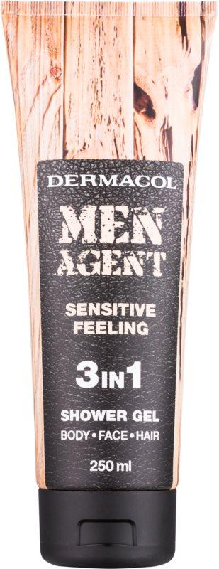 Dermacol Men Agent Sensitive Feeling sprchový gél 3v1