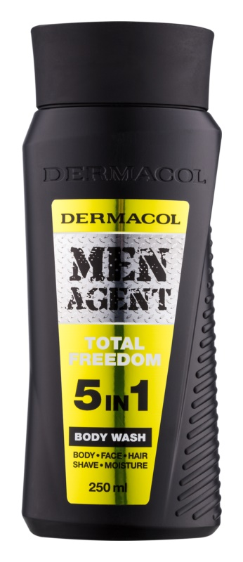Dermacol Men Agent Total Freedom tusoló gél  5 in 1