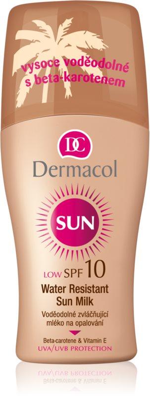Dermacol Sun Water Resistant leite solar à prova de água SPF 10