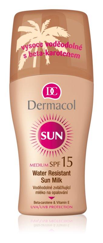 Dermacol Sun Water Resistant vodeodolné mlieko na opaľovanie SPF 15