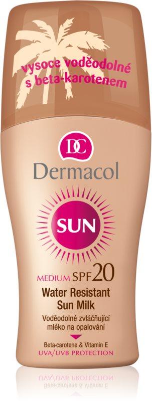 Dermacol Sun Water Resistant водостійке молочко для засмаги SPF 20