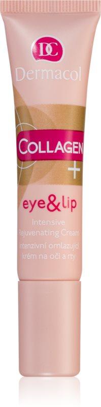 Dermacol Collagen+ intenzivna pomlajevalna krema za oči in ustnice