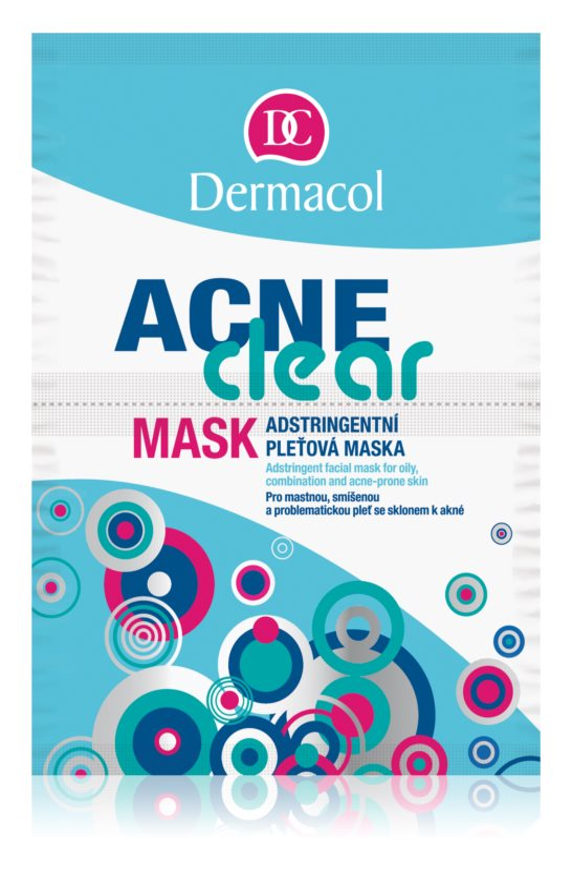 Dermacol Acneclear pleťová maska pre problematickú pleť, akné