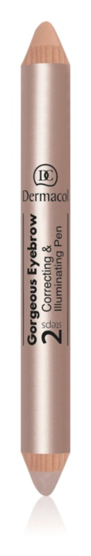 Dermacol Gorgeous Eyebrow Eyebrow Concealer and Highlighter 2 in 1