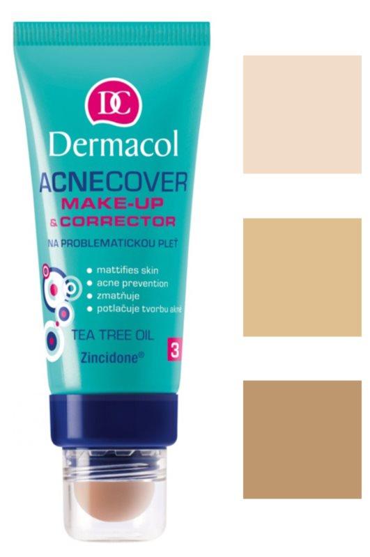 Dermacol Acnecover тональний крем та коректор для проблемної шкіри