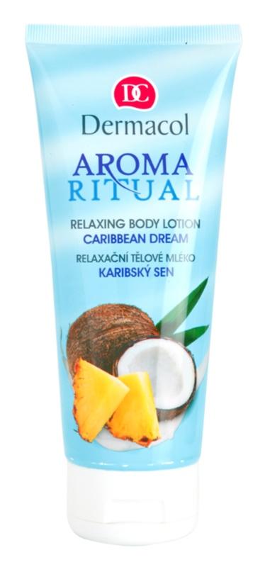 Dermacol Aroma Ritual relaksujący balsam do ciała relaksujące mleczko do ciała Z olejkiem kokosowym.