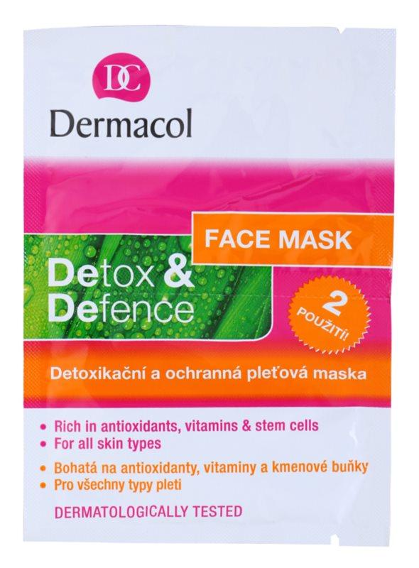 Dermacol Detox & Defence Detoxerend en Beschermend Gezichtsmasker  voor alle huidtypen