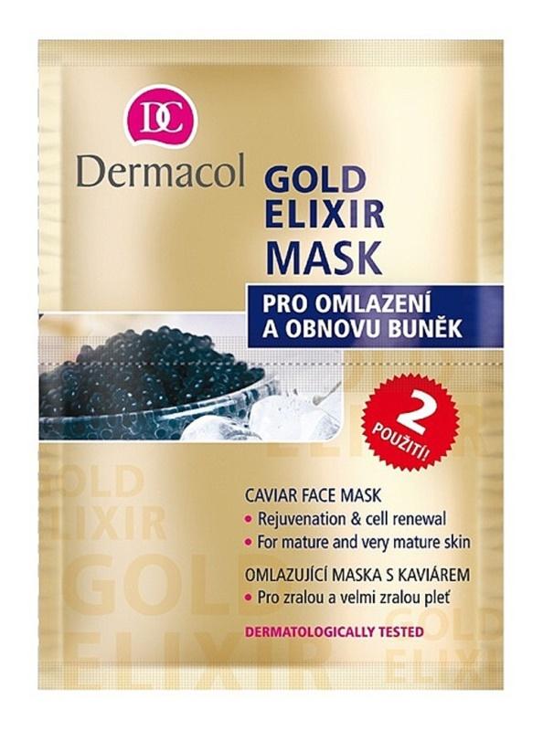 Dermacol Gold Elixir arcmaszk kaviárral