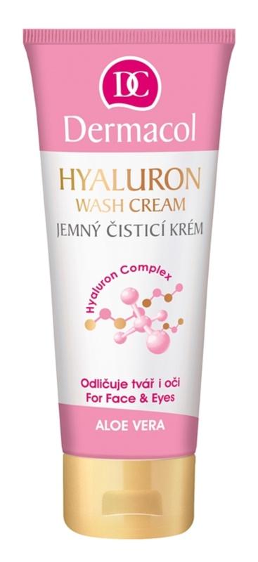 Dermacol Hyaluron finom állagú tisztító krém az arcra és a szemekre
