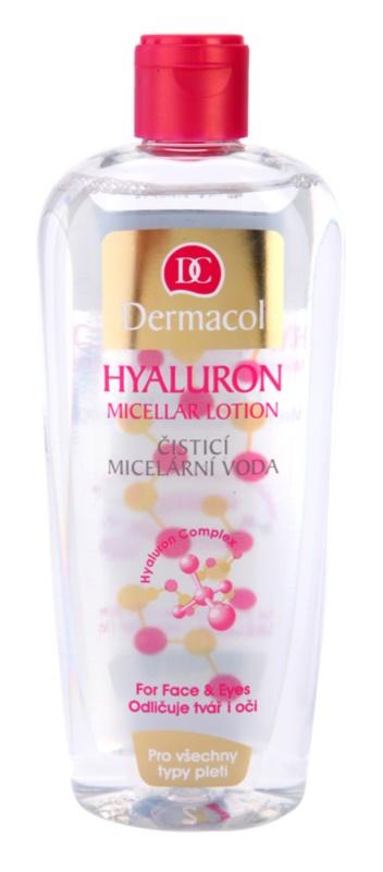 Dermacol Hyaluron agua micelar limpiadora