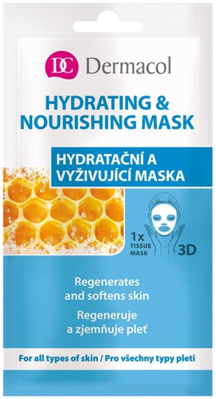 Dermacol Hydrating & Nourishing Mask 3D Hydraterende en Voedende Textiel Masker