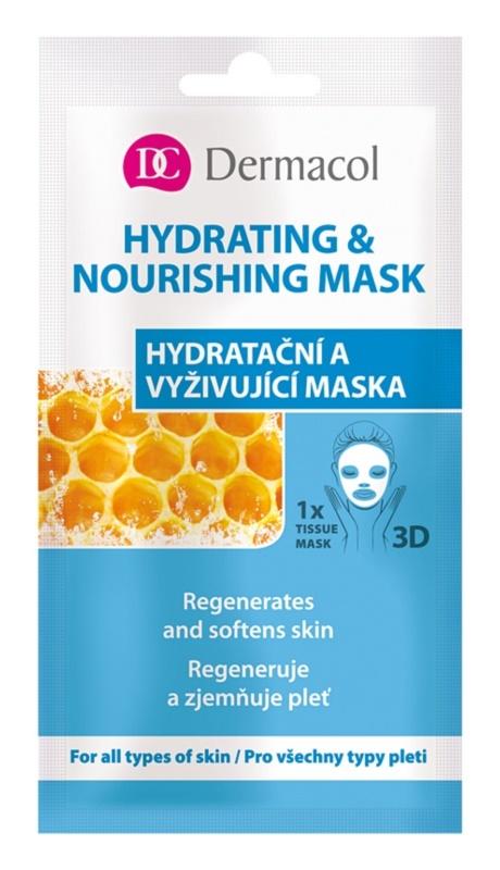 Dermacol Hydrating & Nourishing Mask masque en tissu hydratant et nourrissant 3D