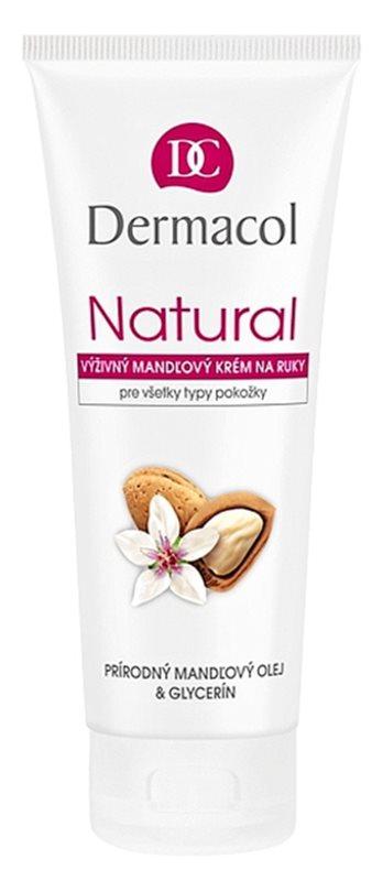 Dermacol Natural crema de manos nutritiva con aceite de almendras para manos y uñas