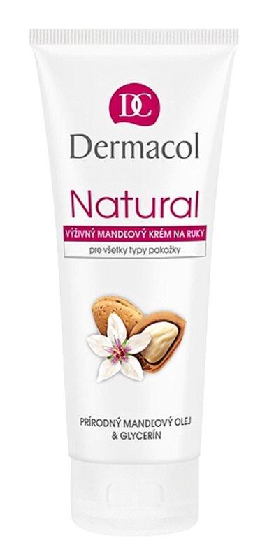 Dermacol Natural Nährende Mandelcreme für Hände und Fingernägel
