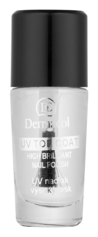 Dermacol UV Top Coat Transparent Nail Polish