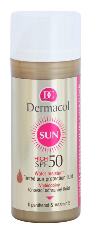 Dermacol Sun Water Resistant fluide teinté waterproof visage SPF50