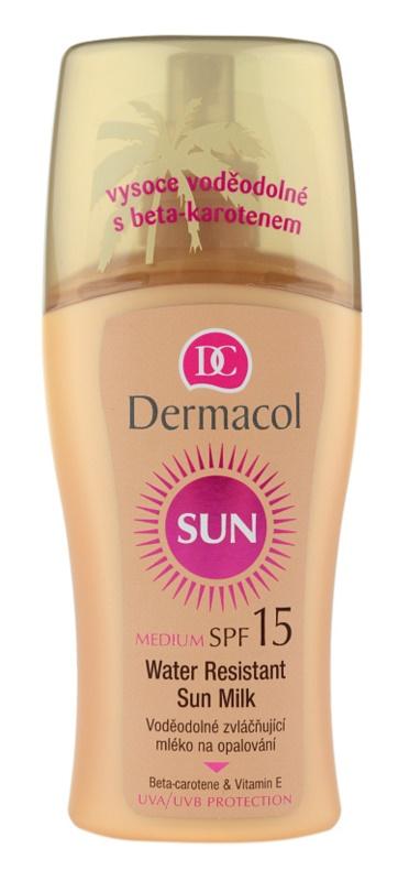 Dermacol Sun Water Resistant водостійке молочко для засмаги SPF 15