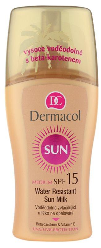 Dermacol Sun Water Resistant αδιάβροχο αντηλιακό γάλα SPF 15