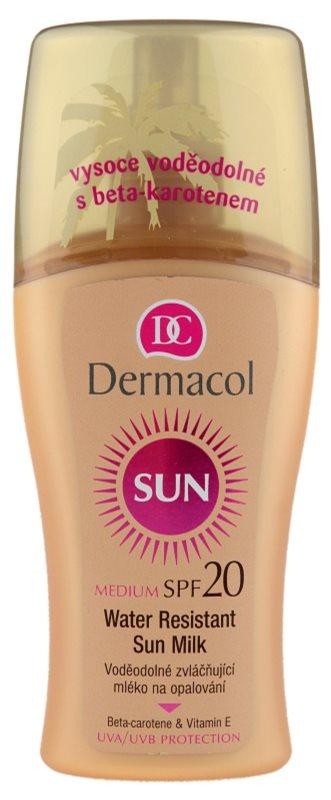 Dermacol Sun Water Resistant lapte de corp pentru soare rezistent la apa SPF 20