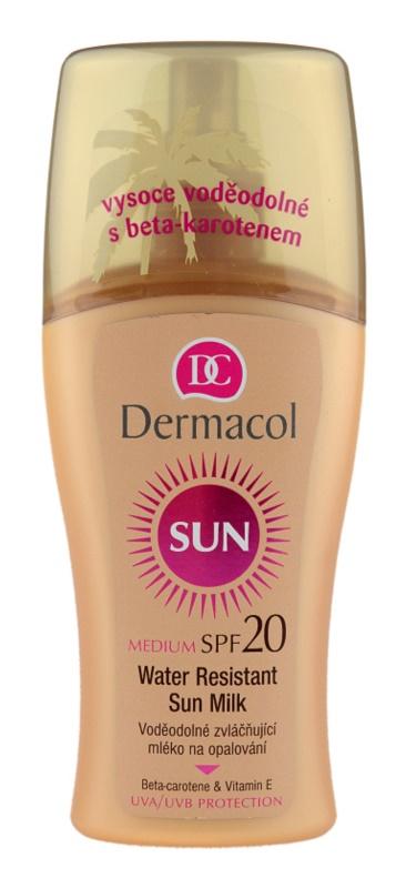 Dermacol Sun Water Resistant αδιάβροχο αντηλιακό γάλα SPF 20