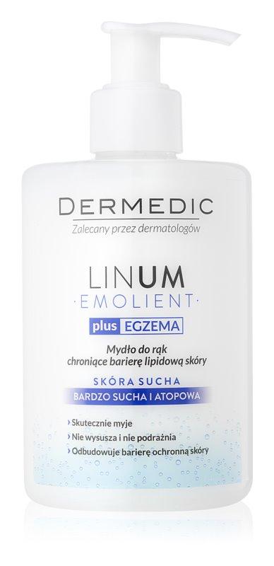 Dermedic Linum Emolient sabonete de mãos para proteção de barreira lipídica