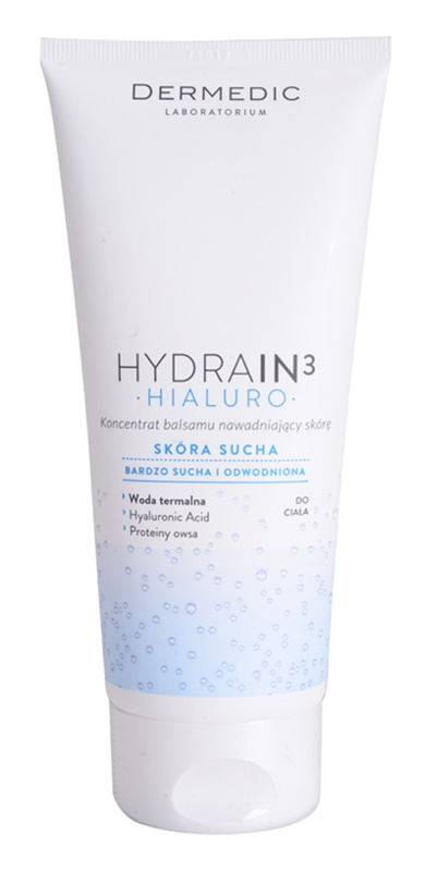 Dermedic Hydrain3 Hialuro koncentrált hidratáló testápoló tej Száraz, nagyon száraz bőrre
