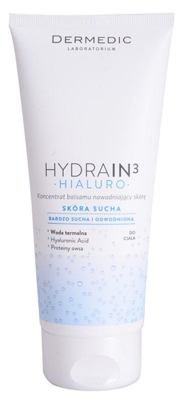Dermedic Hydrain3 Hialuro leche corporal hidratante concentrada para pieles secas y muy secas
