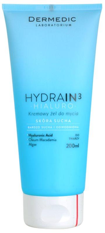 Dermedic Hydrain3 Hialuro Creamy Cleansing Gel For Dehydrated Dry Skin