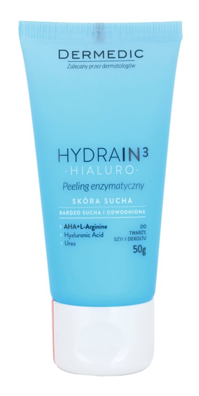 Dermedic Hydrain3 Hialuro exfoliante enzimático para pieles deshidratadas y secas