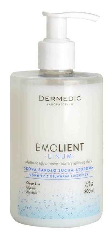 Dermedic Linum Emolient mydło do rąk chroniące barierę lipidową skóry