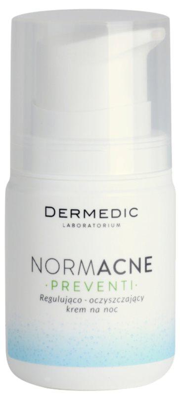 Dermedic Normacne Preventi noční regulační a čisticí pleťový krém