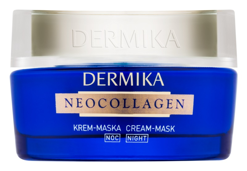 Dermika Neocollagen Creme-Maske für die Nacht zur Regeneration der Haut und zur Reduktion von Falten