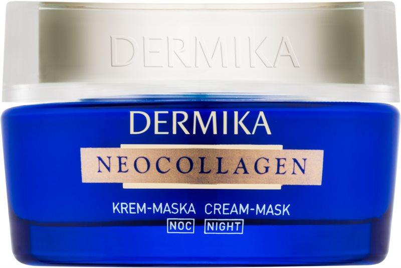Dermika Neocollagen mascarilla de noche en crema para regenerar la piel y reducir las arrugas