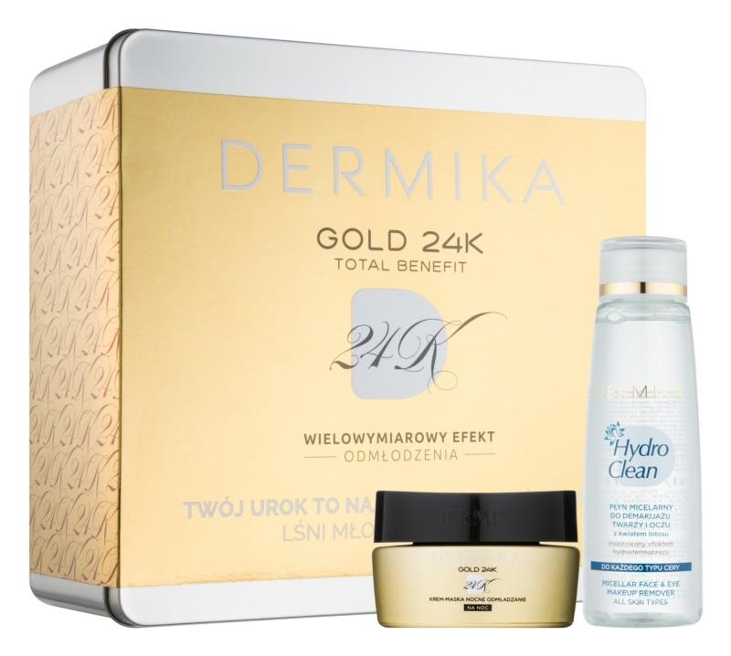 Dermika Gold 24k Total Benefit kozmetická sada II.