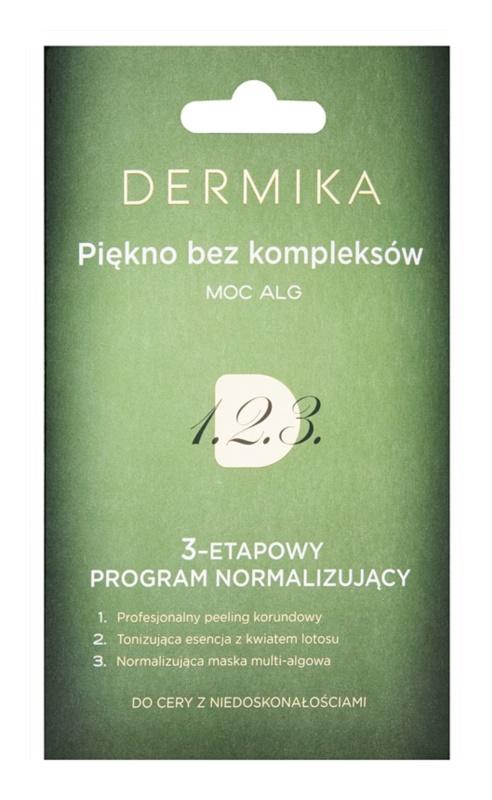 Dermika 1. 2. 3. 3-Fasen normaliserende verzorging  voor Huid met Oneffenheden