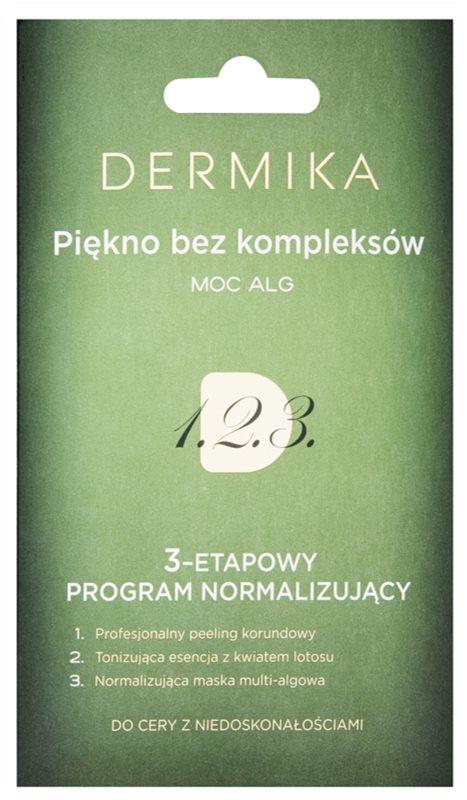 Dermika 1. 2. 3. soin normalisant triphasé pour peaux à imperfections