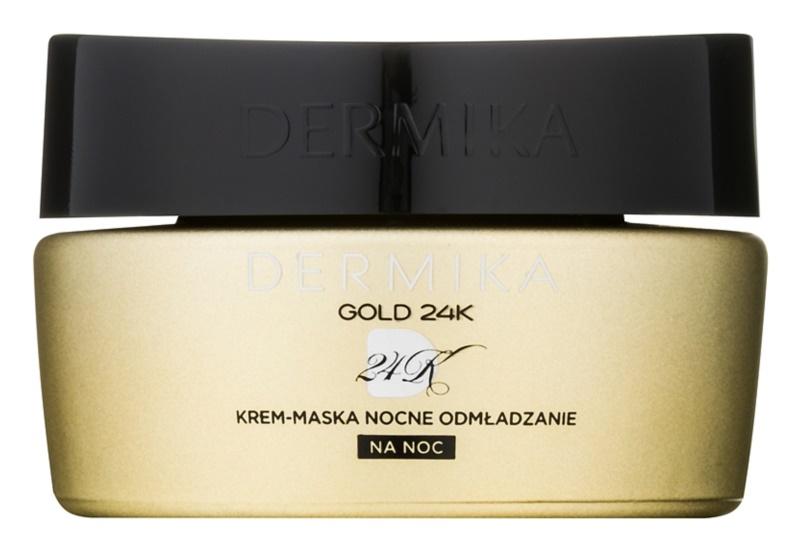Dermika Gold 24k Total Benefit éjszakai krémes maszk regeneráló hatással