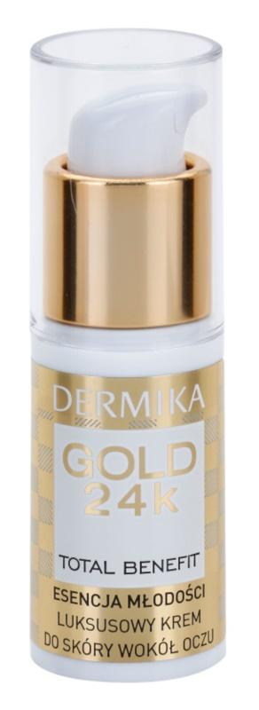 Dermika Gold 24k Total Benefit Luxe Verjongende Crème  voor Oogcontouren