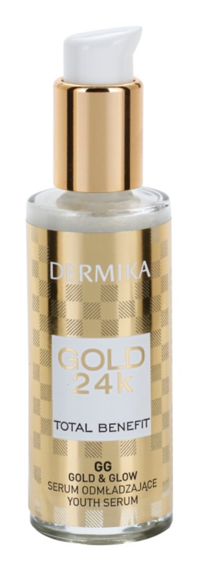 Dermika Gold 24k Total Benefit Rejuvenating Serum with Brightening and Smoothing Effect