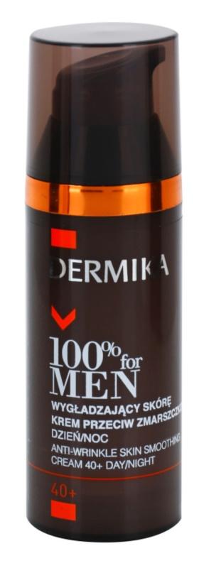 Dermika 100% for Men crema antiarrugas con efecto alisador 40+