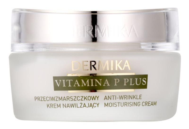 Dermika Vitamina P Plus creme hidratante antirrugas para a pele sensível com tendência a aparecer com vermelhidão