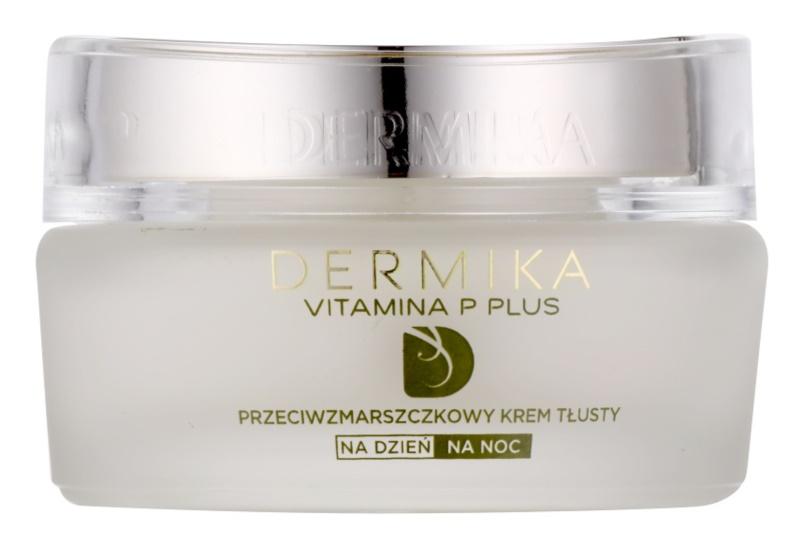 Dermika Vitamina P Plus výživný protivráskový krém pre citlivú pleť so sklonom k začervenaniu
