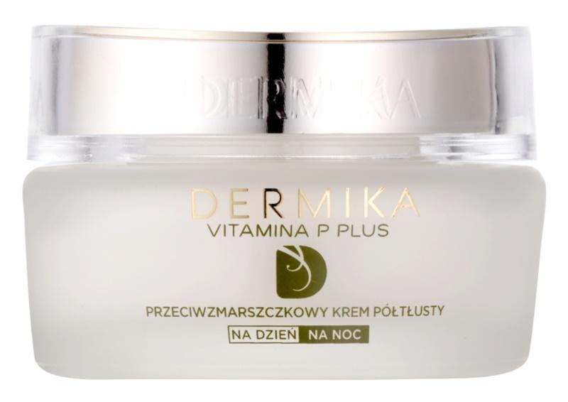 Dermika Vitamina P Plus protivráskový krém pre citlivú pleť so sklonom k začervenaniu