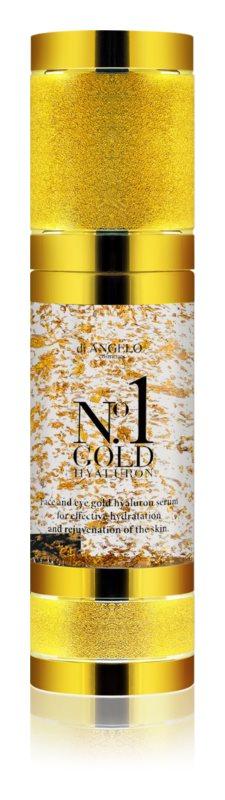 Di Angelo Cosmetics No1 Gold hyalurónové sérum pre okamžité rozjasnenie a omladenie pleti