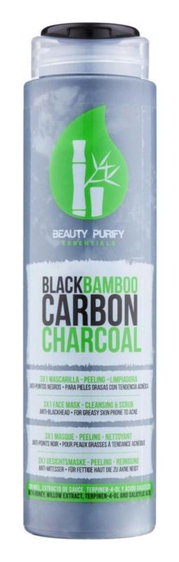 Diet Esthetic Beauty Purify pleťová maska z černého bambusového uhlí 3 v 1