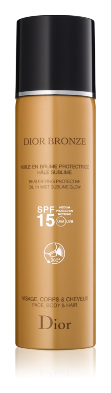 Dior Dior Bronze olje za sončenje za telo in lase v pršilu
